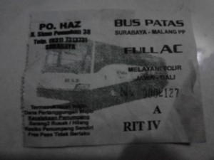 Ini ticket yang seharga Rp.30.000,- (PO. HAZ)